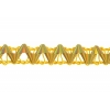 "Metallic 3/8"" Single Braid Gold Hologram Matt"